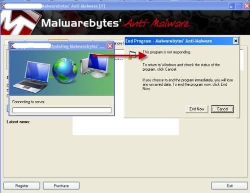 Malwarebytes memory scan