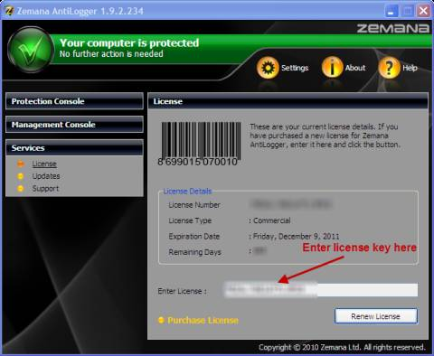 Download Zemana AntiLogger 1 year license key for Free 4