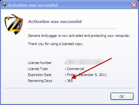 Download Zemana AntiLogger 1 year license key for Free 5
