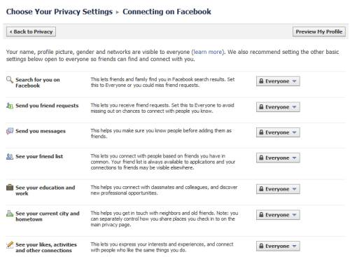 Control basic personal information you share on Facebook 6