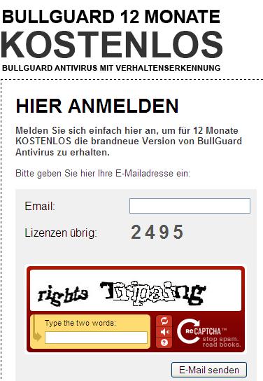 Grab Bullguard Antivirus license key (1year) for Free 2