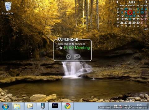 Rainlender: Customisable Calender with events and tasks on Desktop 3