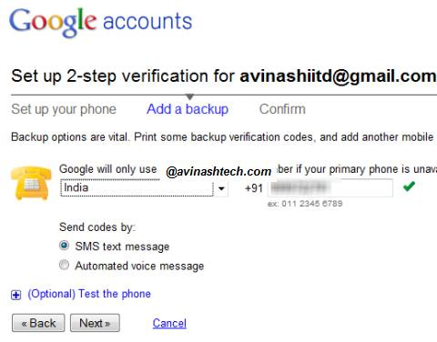 How to set up 2-step verification process for your Google Account 6