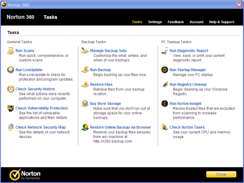 [Review]: Norton 360 v5, PC security suite with Backup and tuneup 3