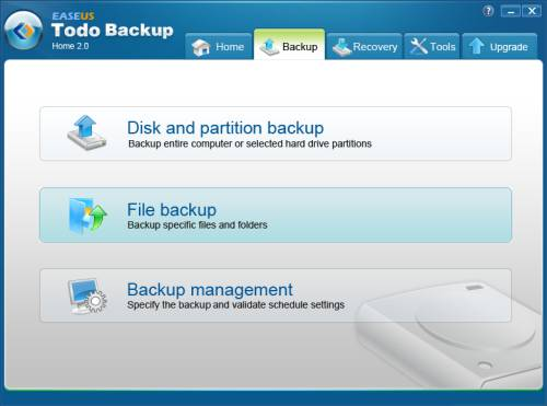 Review: EASEUS Todo Backup Home to backup files, drives or partitions 3