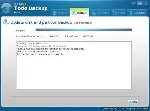 Review: EASEUS Todo Backup Home to backup files, drives or partitions 8