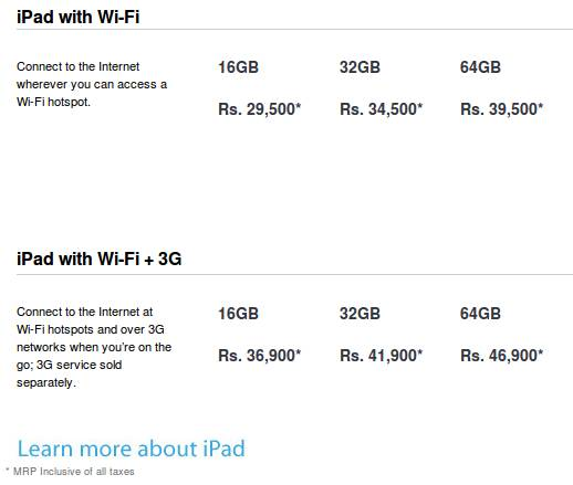 iPad 2 prices