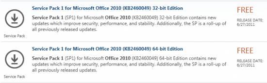 ms office 2010 service pack 1 64 bit