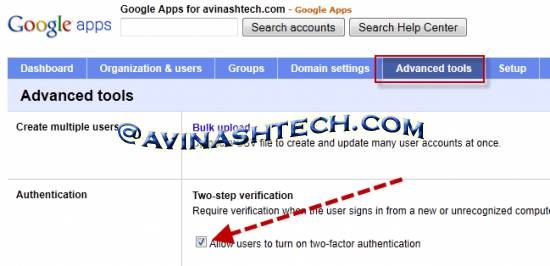 How to enable two-step verification for Google Apps 1