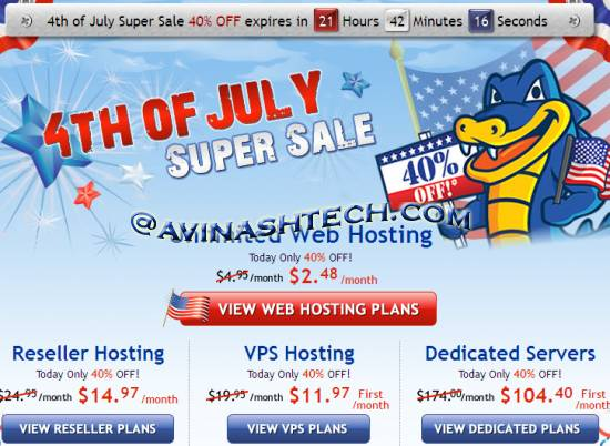 Hostgator 40% OFF, today Only. starts with just 2.48$ 1