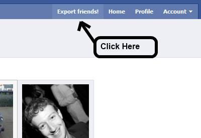 facebook friends export