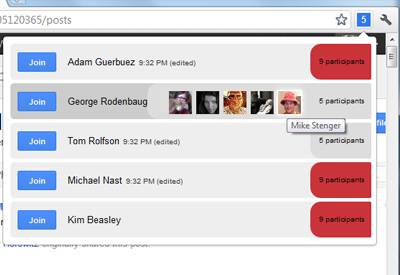 See all active hangouts in your Google+ stream with My Hangouts [Chrome Extension] 2