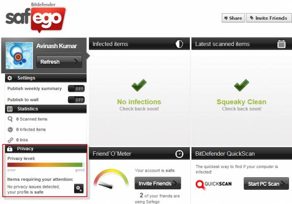 Anti Malware protection for Twitter and Facebook with Bitdefender Safego 4