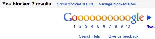 google search block