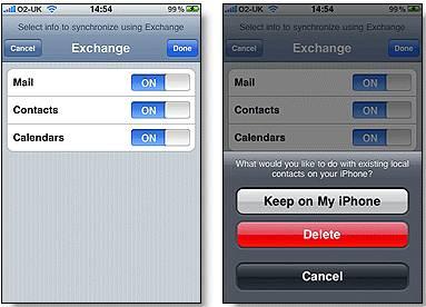 iphone ipad exchange sync