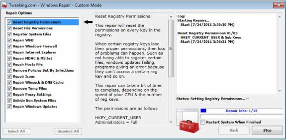 Fix Windows errors -repair