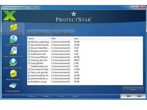 erase files folders