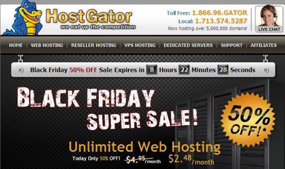 Grab Hostgator Webhosting Black Friday Promo- 50% OFF on VPS, Dedicated 1