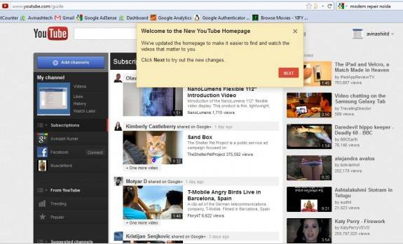 How to enable brand new YouTube Design 1