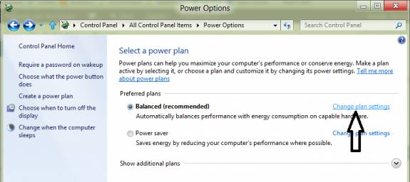Power options