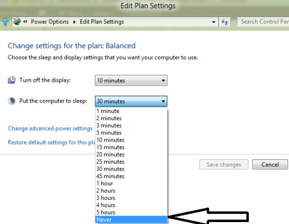 How to disable Auto Sleep mode in Windows 8 4
