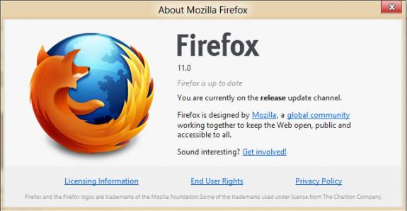 Download Firefox 11 Final with Addons Sync & chrome migration Capability 5