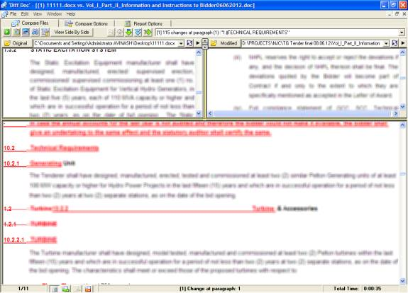 How to compare Word, Excel, PowerPoint, PDF, HTML files with Diff Doc 2