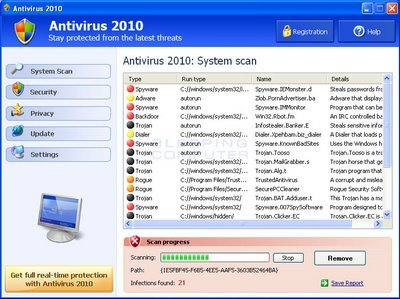 How to Remove Antivirus 2010