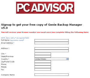 Get free Genuine License of Genie Backup Manager v5.0