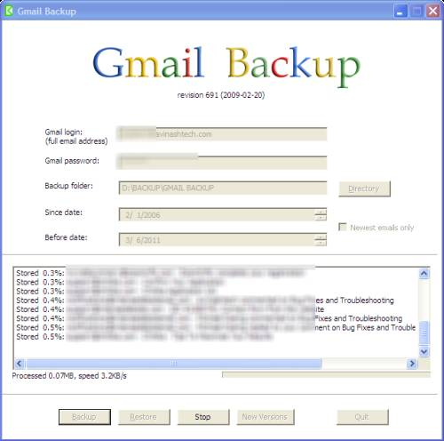 Gmail Backup - Five (5) ways to backup Gmail account