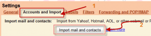 Import old email account's messages and contacts into Gmail