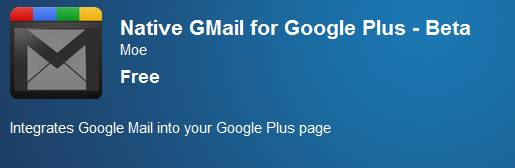 How to add Gmail inside Google+ plus bar using chrome a extension