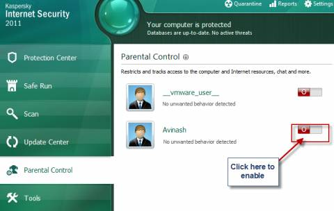 KIS parental control 480x304 - How to configure and use Kaspersky Parental Control
