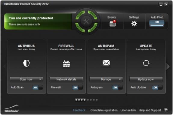 MainView - Bitdefender Internet Security 2012 License Key Giveaway