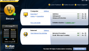 Free two licenses Giveaway of Norton Antivirus 2009 for 1 year