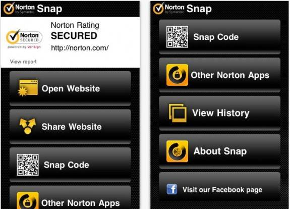 Norton snap QR code - Block dangerous QR codes, unsafe websites on Android and iOS Mobile device