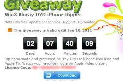 Free WinX Bluray DVD iPhone Ripper license key Giveaway 1