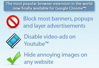 How to block Youtube video-ads in Chrome [Extension]