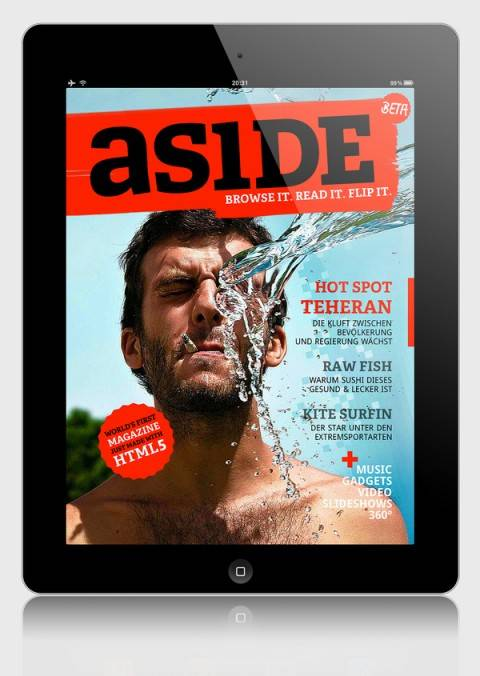 aside: Enjoy World's first's Magazine only made with HTML5 on iPad
