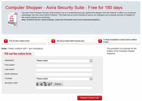 Grab Avira Security Suite free for 180 days
