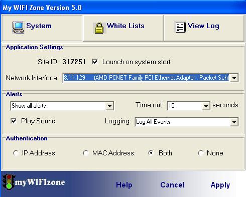 mywifizone1 - MyWIFIzone: convert your wireless network into a WIFI hotspot