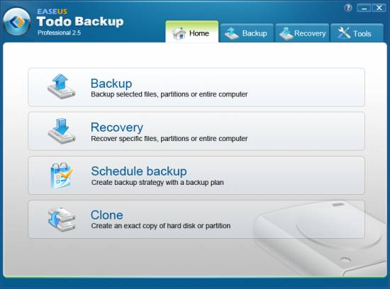 todobackup - [Avinashtech Exclusive] EASEUS Todo Backup Professional 2.5 Giveaway (unlimited 96 hours)