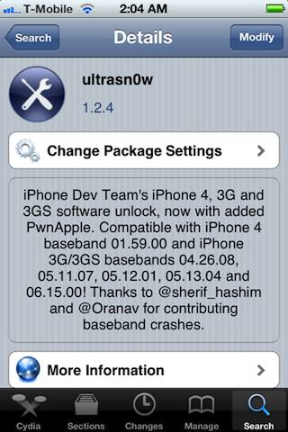 Ultrasn0w iOS 5 Unlock updated to compatible with iOS5