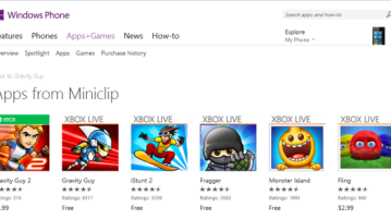 Four games from Miniclip are now free in the Windows Phone Store 7