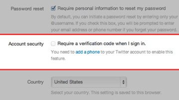 account security twitter - Enable Twitter two step authentication via SMS, Will not work for many