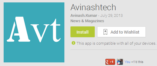 Avinashtech Android App - Android App for Avinashtech is here, Download it