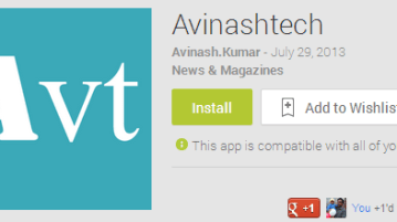 Android App for Avinashtech is here, Download it 1