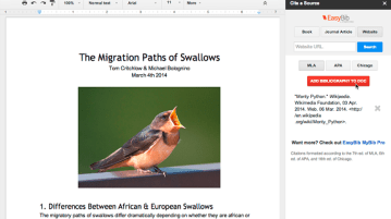 easybib addon - Add-on store for Google Docs' spreadsheet and word processor apps launched