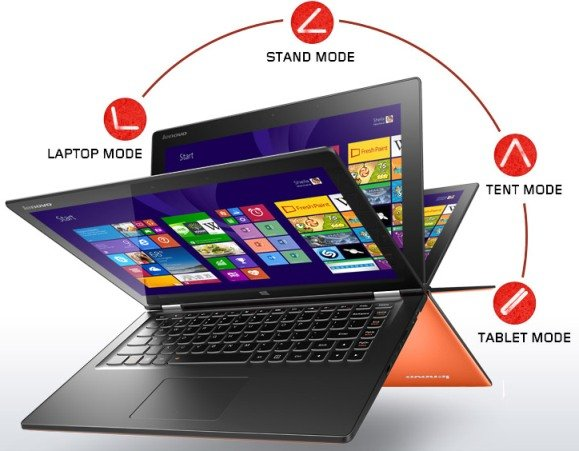 lenovo yoga 2 - Lenovo Launches Yoga 2, Flex 2 alongwith  G40/G50, Z50 and C260 devices