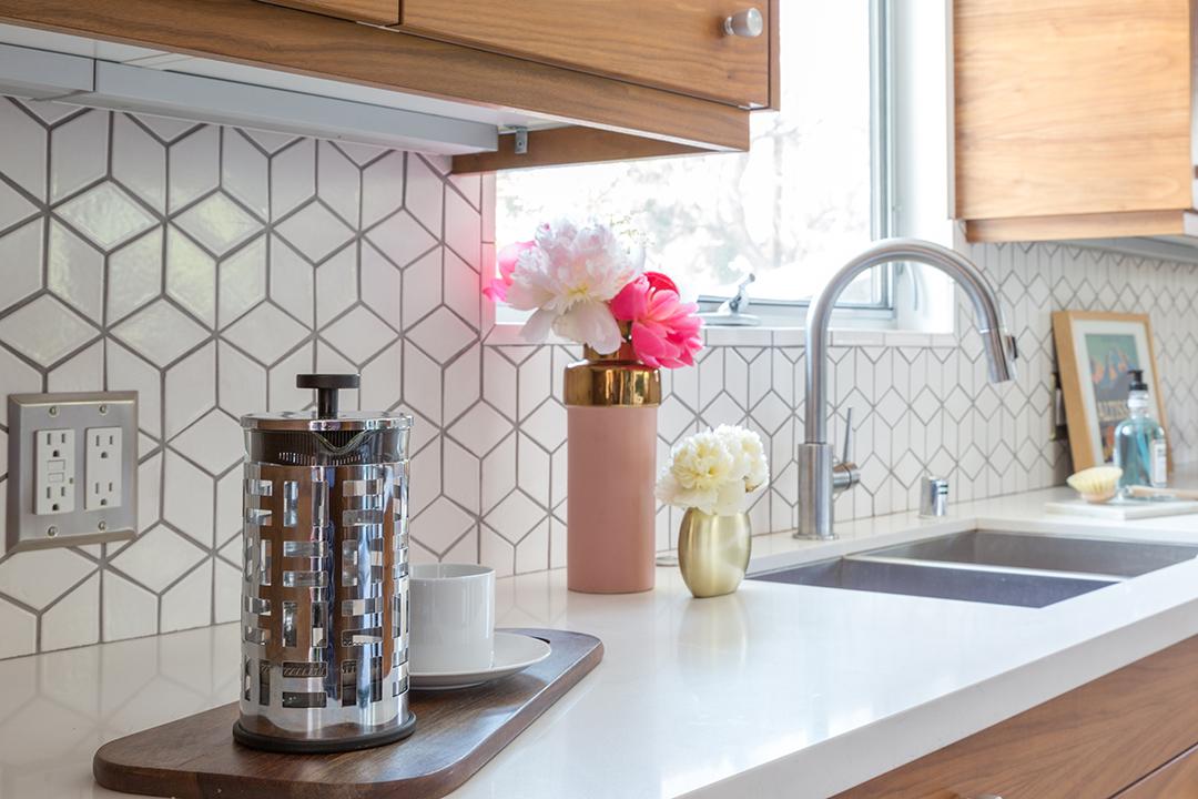 mid century modern kitchen renovation